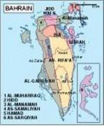 bahrain_political vector map