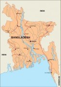bangladesh_countrymap vector map