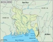 bangladesh_topographical vector map