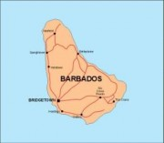 barbados_countrymap vector map