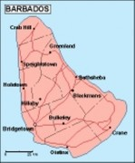 barbados_geography vector map