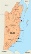 belize_countrymap vector map