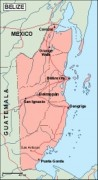 belize_geography vector map