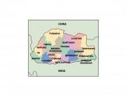 bhutan powerpoint map
