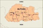bhutan_countrymap vector map