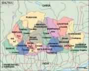 bhutan_political vector map