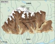 bhutan_topographical vector map