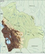 bolivia_topographical vector map