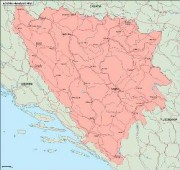 bosnia_geography vector map