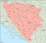 bosnia_geography vector map