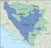 bosnia_political vector map