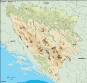 bosnia_topographical vector map