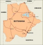botswana_countrymap vector map
