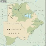 botswana_topographical vector map
