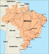 brazil_countrymap vector map