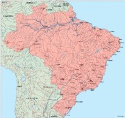 brazil_geography vector map