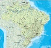 brazil_topographical vector map