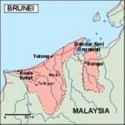 brunei_geography vector map