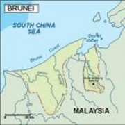 brunei_topographical vector map