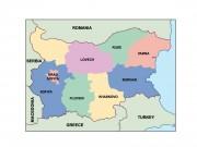 bulgaria powerpoint map