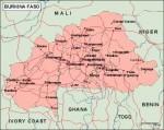 burkinafaso_geography vector map