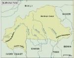 burkinafaso_topographical vector map