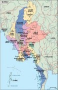 burma_political vector map