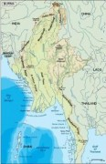 burma_topographical vector map