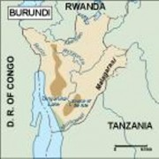 burundi_topographical vector map