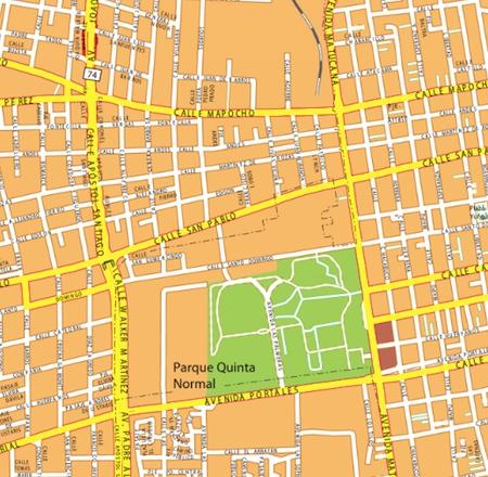 calles santiago de chile