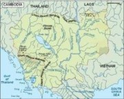 cambodja_topographical vector map