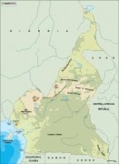 cameroon_topographical vector map