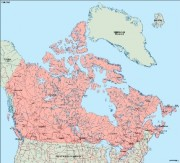canada_geography vector map