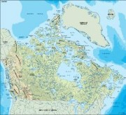 canada_topographical vector map