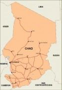 chad_countrymap vector map