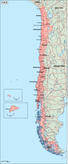 Download Chile Vector Map As Digital File Purchase