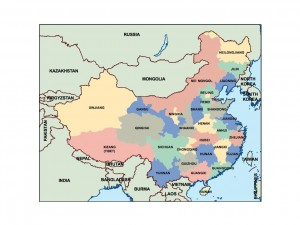 china powerpoint map