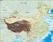 china_topographical vector map