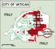 cityofvatican_topographical vector map