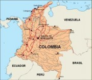 colombia_countrymap vector map