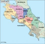 costarica_political vector map