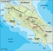 costarica_topographical vector map