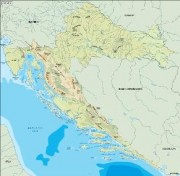 croatia_topographical vector map