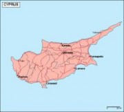 cyprus_geography vector map