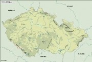 czechrep_topographical vector map