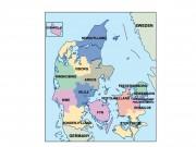 denmark powerpoint map