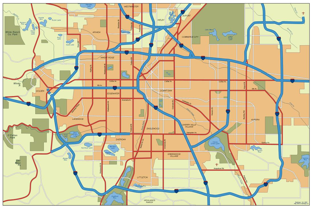 Denver Vector City Maps