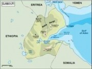 djibouti_topographical vector map