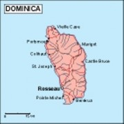 dominica_geography vector map