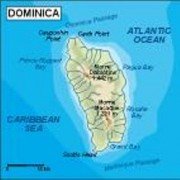 dominica_topographical vector map